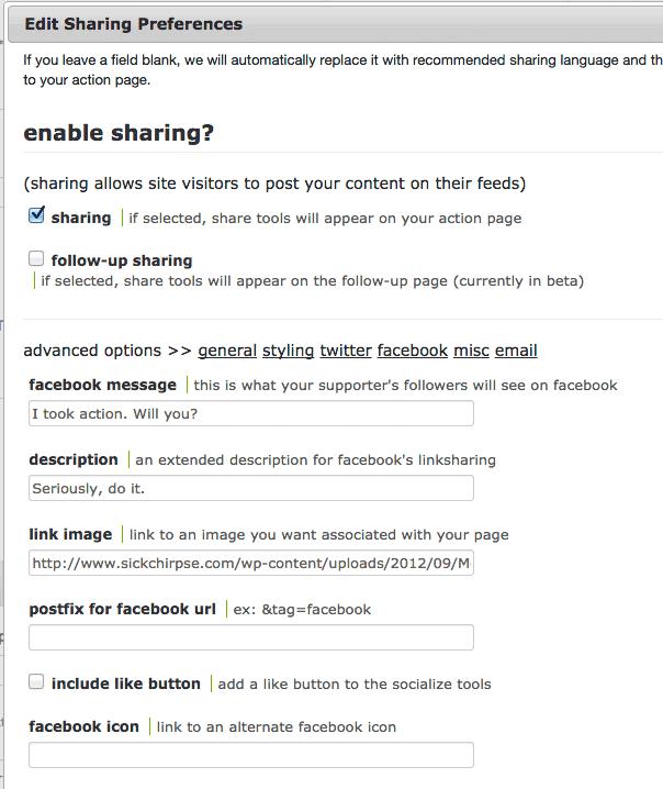 Salsa Edit Sharing Preferences